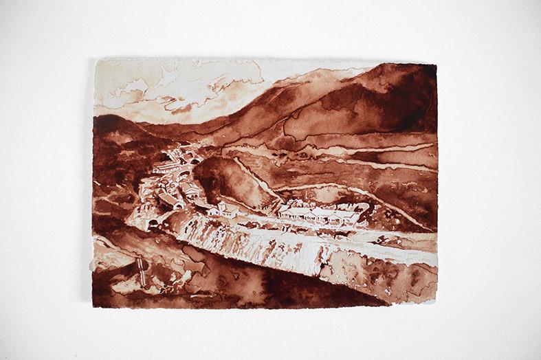 Javier ARCE. Engaña #4, 2015. Sangre del artista sobre papel Hahnemühle. 20 x 30 cm