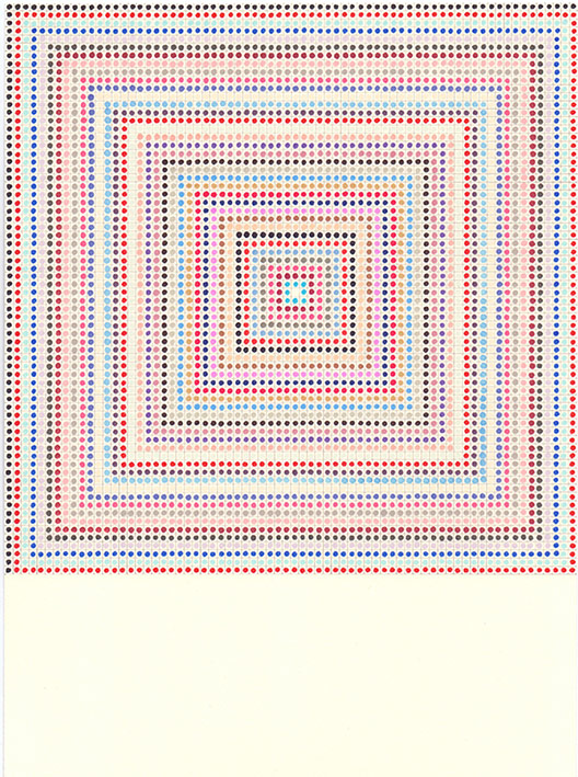 Károly-KESERÜ.Untitled-(1504081)-XXth.Century-Series.Victor-Vasarely.2015.Tinta-y-grafito-sobre-papel.30x21cm