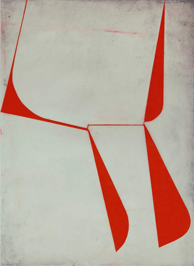 Katrin Bremermann. Untitled, 2014. Pintura sobre papel encerado. 40 x 30 cm